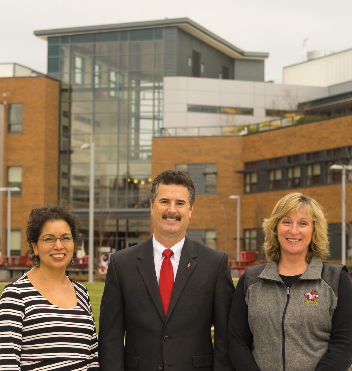 Skagit Valley College's Dr. Tom Keegan, Dr. Laura Cailloux, and Sandy Leber