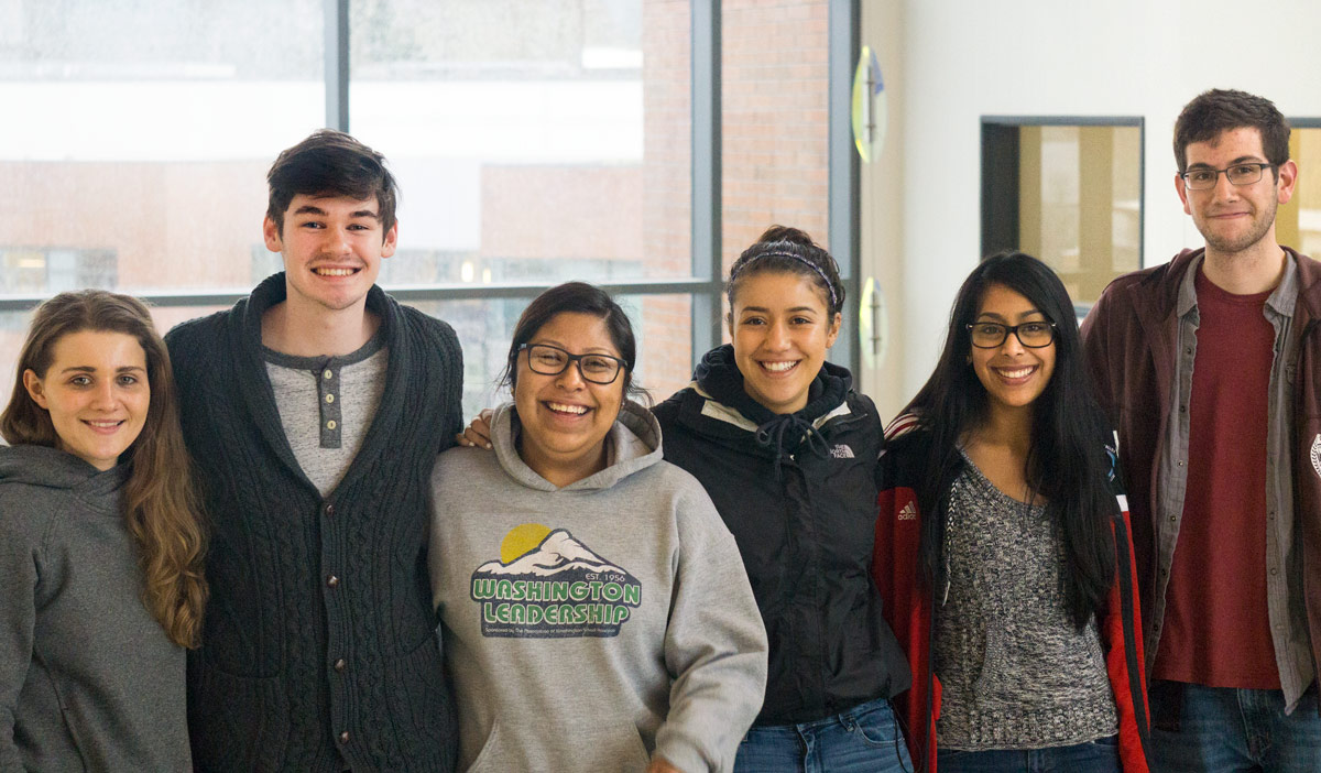 Skagit Valley College Students in Lewis Hall